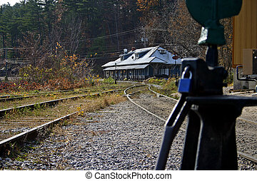 Train track switch - A train track switch at an old train...