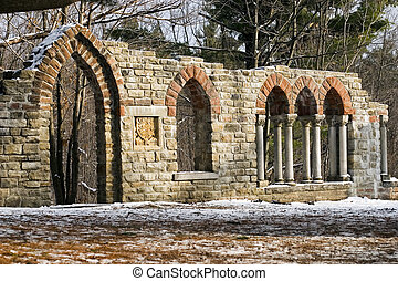 Old Ruins - Ruins at Mackenzie King Estate in Gatineau,...