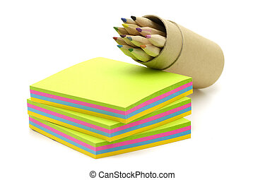 Memo Paper - Photo office Note Paper and a Pencil