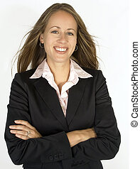 Portrait of a Business Woman - A business female is looking...