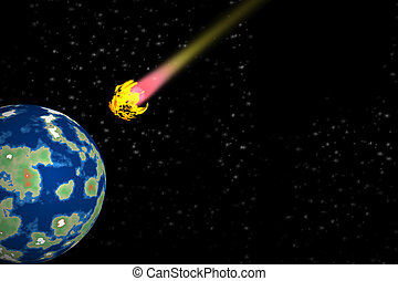 comet falling on earth