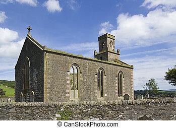 st colmac church - The ruins of St Colmac Church, Bute,...