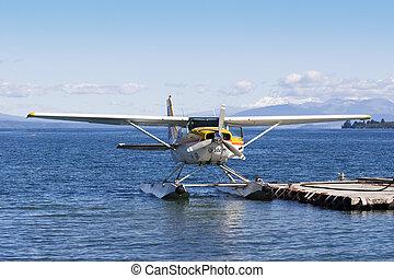 Seaplane - A floating sitting on Lake Taupo, New Zealand