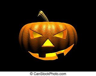 Halloween Pumpkin - Creepy halloween Jack-o-lantern