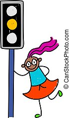 traffic light kid - learning road safety - toddler art...