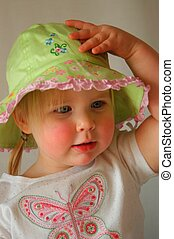 Babe in Hat II - Female toddler models her new hat
