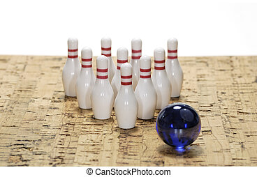Bowling Pins - Photo of Bowling Pins - Bowling Concept
