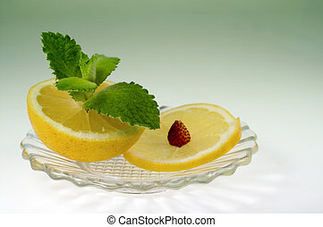 Lemon and mint - Lemon with mint