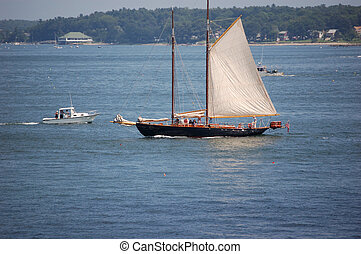 schooner in portland harbor