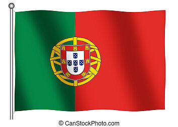 Flag of Portugal Waving - Flag of Portugal waving (With...