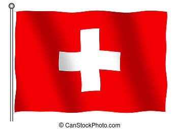 Flag of Switzerland Waving
