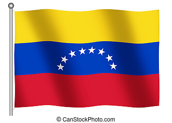 Flag of Venezuela Waving - Flag of Venezuela waving (With...