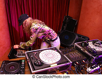 DJ - girl at club
