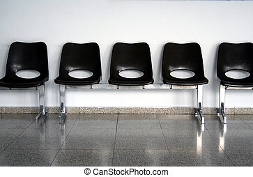 Empty seats in a waiting room