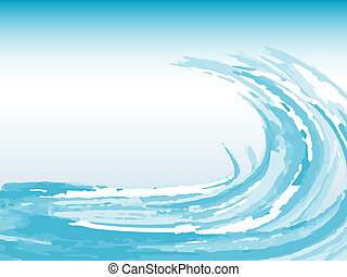 Grunge wave - Grunge style wave background