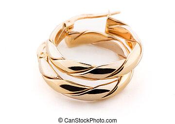 Gold Jewellery - Earrings - Pair of gold earrings