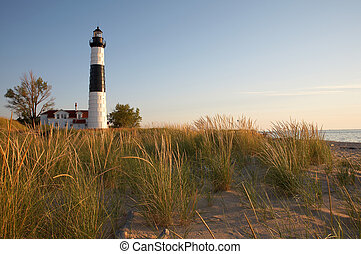 Michigan Lighthouse - Big Sable Point Lighthouse, Lake...