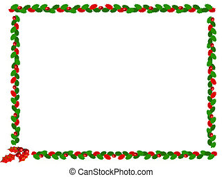 christmas border - holly christmas border