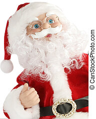 christmas santa - Santa Claus christmas portrait on white