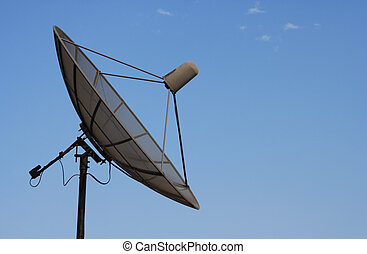 Satellite dish with room for copy