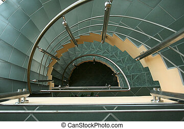 Semicircular Stairs - The way down