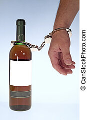 Wine and handcuff - Slave of alcoholic