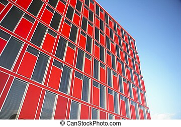 red modern office building - office building in the city of...