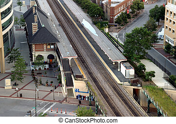 Commuter Train Station - Evanston, closest city North of...