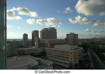 North Shore with Lake Michigan - Evanston - a view of...