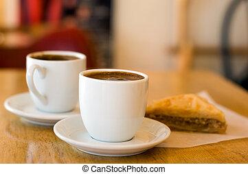 manhã, café