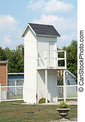 2 Story Outhouse - A historic 2 story outhouse in Illinois.