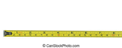 Tape measure - Metal tape measure with clipping path