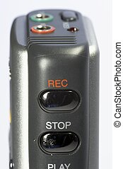 dictaphone 04 - digital dictaphone in detail - silver and...