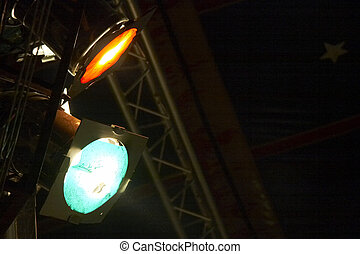 circus spotlicht - spotlight to light the stage of the...