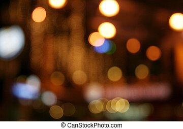 neon, światła