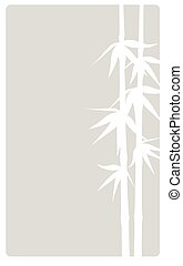 Bamboo beige vertica - Beige background with bamboo...