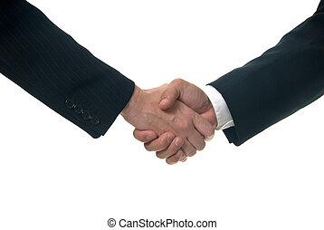 handshake - close up of male and female handshake