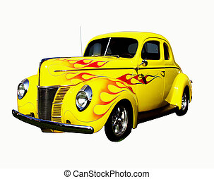 flamed hot rod - classic auto, restored and customized