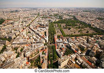 Paris view aerial