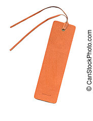 Leather bookmark - Genuine leather bookmark with clipping...