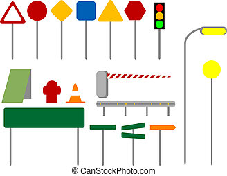 Traffic signs - Colorful traffic sign icons.