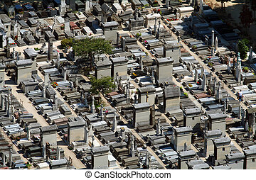 Cemetary aerial view