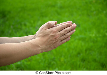 Hands of the prayer