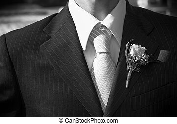 wedding day(special f/x) - necktie of the fiance in close...