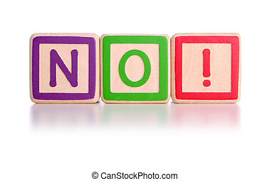 NO! blocks - No spelt with children\\\'s toy blocks with...