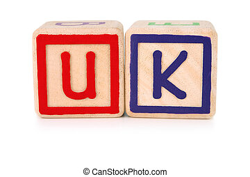 United Kingdom build - Isolated childrens building blocks...