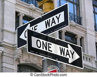 NY17 - street signs