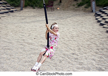 young girl swinging 03