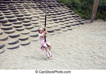 young girl swinging 04