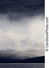 Storm - clouds with rain